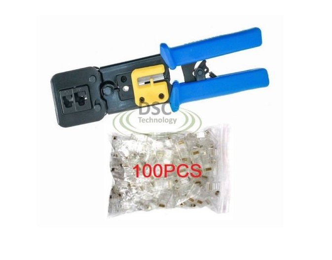 EZ-RJ45 Crimping Tool End Pass Through Cat6/Cat5 +100Connectors