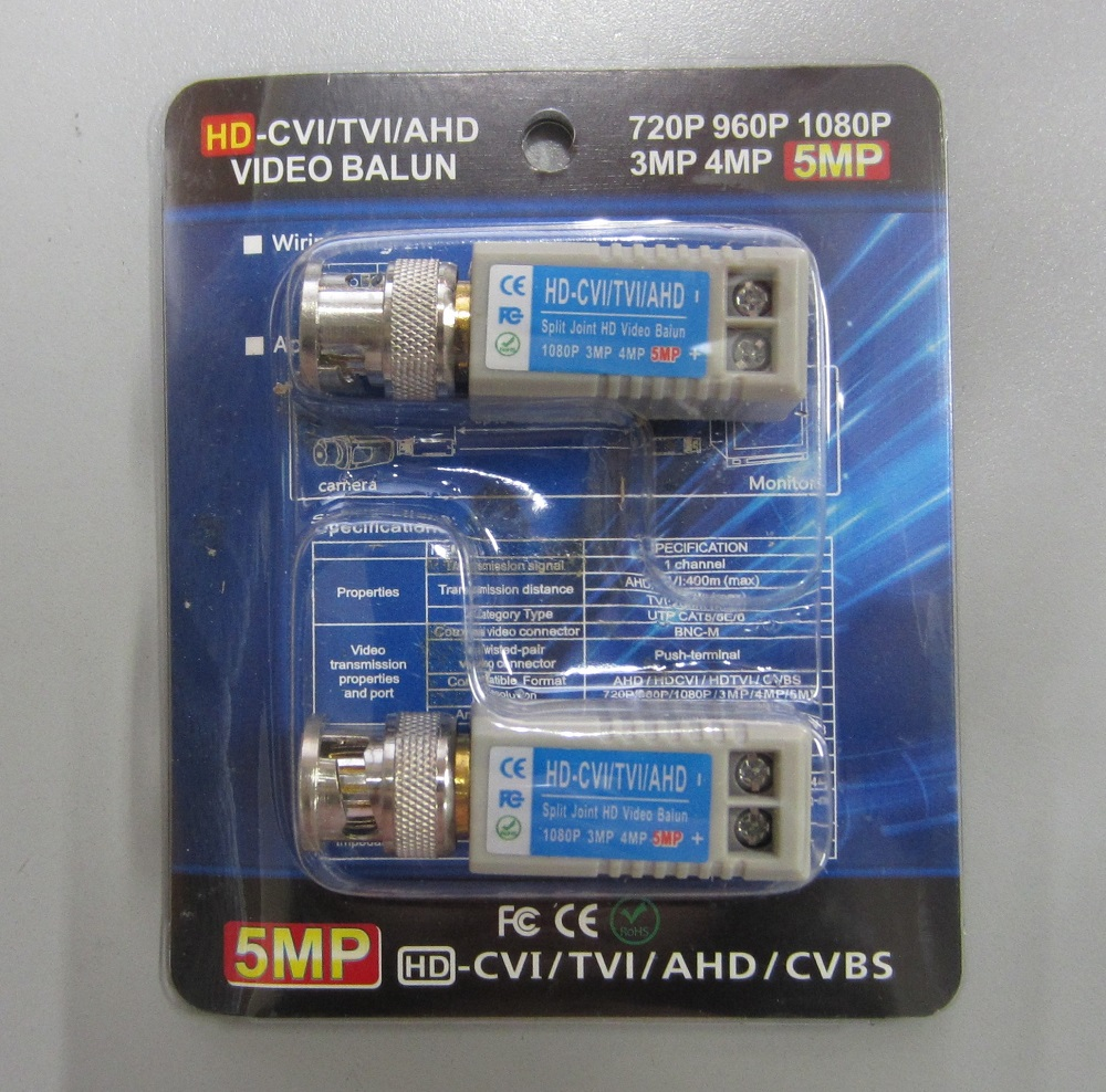 CCTV HD Video Baluns BNC Cat5/Cat6