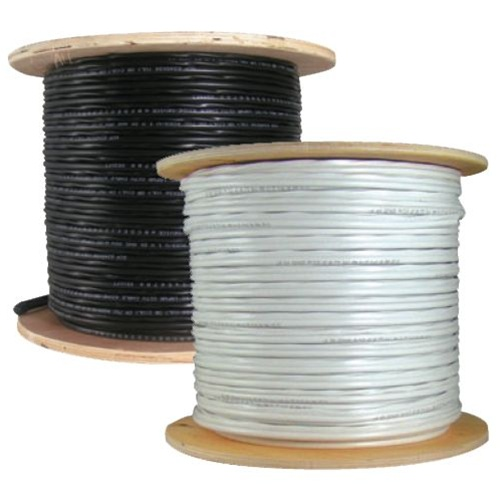 Economical RG-59/U Siamese cable. 1000 FT with Power/Video