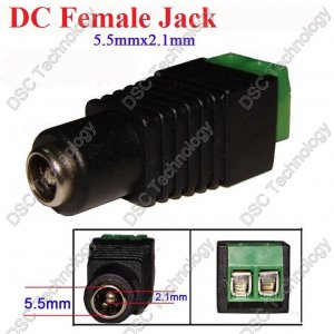 2.1mm Female Power Plug with Built-in Screw Terminal