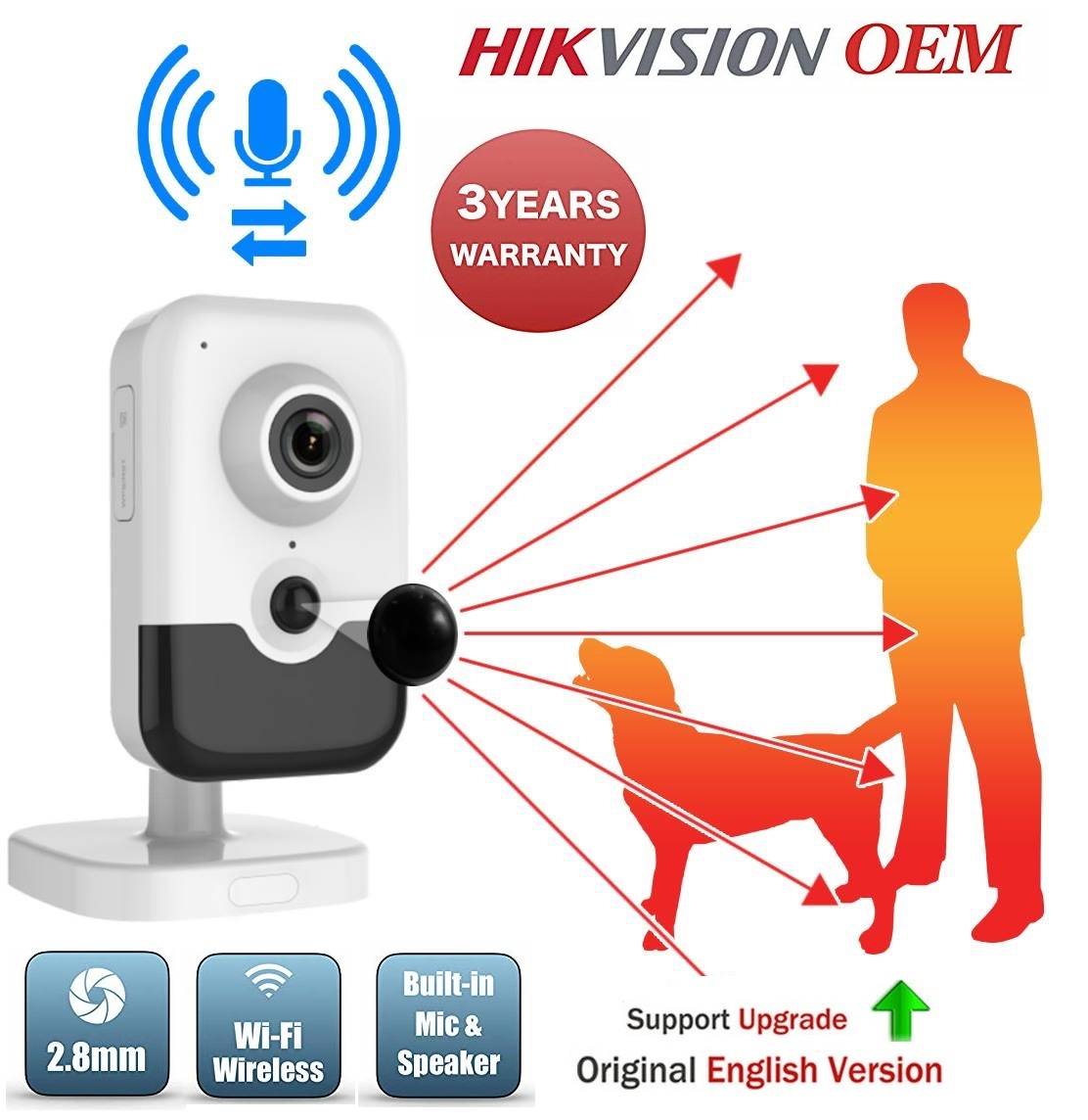 Hikvision OEM 6MP IP PoE Network Cube Camera DS-2CD2463G0-I(W)