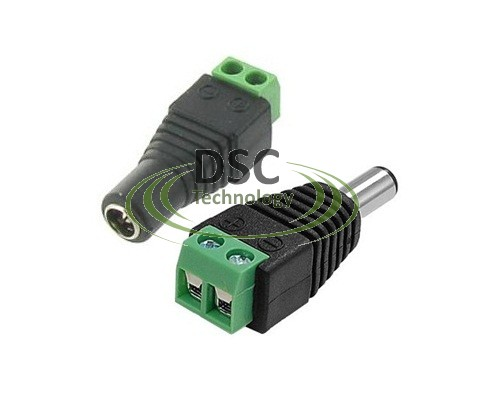 50x Male & Female DC Power Jack Adapter Connector Plug
