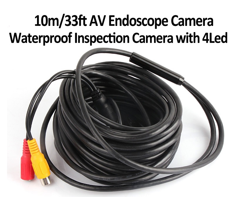 Mini AV Endoscope Borescope Snake Inspection Camera 10M
