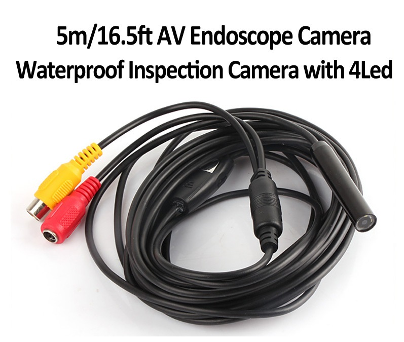 Mini AV Endoscope Borescope Snake Inspection Camera 5M