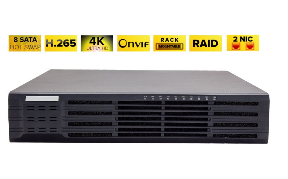 NVR308-64R-B 64 Channel Super 4K Network Video Recorder