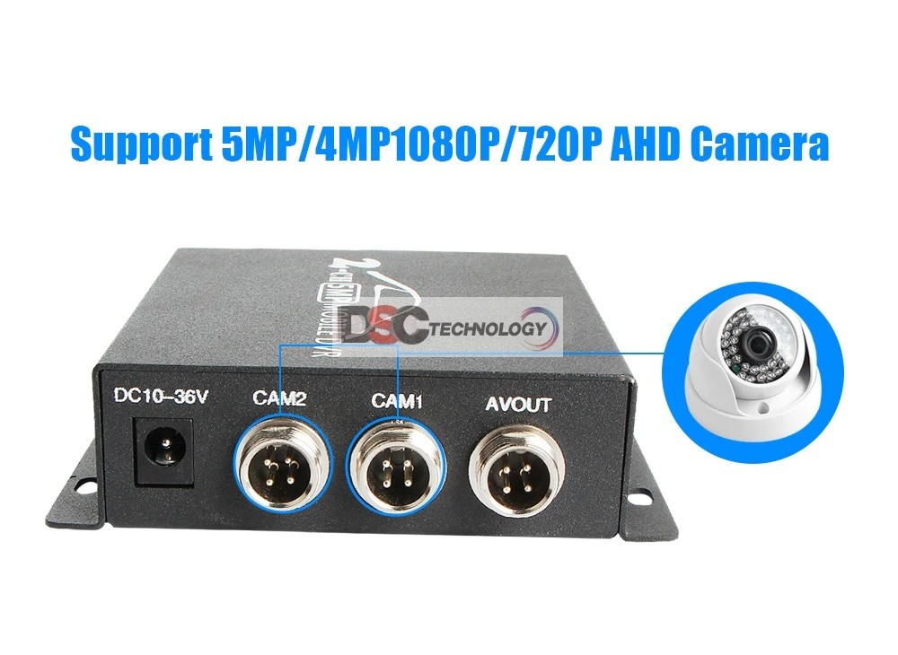 5MP AHD Mini DVR support sd card Real-time hd mini 2Channel dvr
